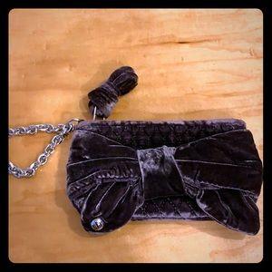 Juicy Couture velvet bow wristlet
